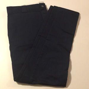 Dickies Navy Skinny Straight Chinos Pants 38x32